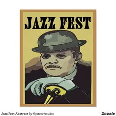 Jazz Fest Abstract Poster