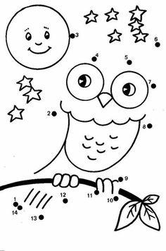 Connect The Dots Worksheet For Kindergarten - Free Coloring Sheets Kindergarten Coloring Pages, Kindergarten Colors, Kindergarten Worksheets, Preschool Activities, Owl Coloring Pages, Free Coloring Sheets, Coloring Pages For Kids, Coloring Books, Printable Coloring