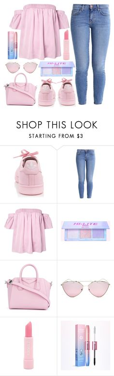 """"""""""" by j-n-a ❤ liked on Polyvore featuring adidas, Current/Elliott, Milly, Givenchy, Prada and Forever 21"""