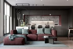 New Living Room Contemporary Apartment Couch 15 Ideas Zeitgenössisches Apartment, Apartment Interior, Interior Design Living Room, Living Room Designs, Living Room Decor, Living Spaces, Small Living, Modern Living, Lounge Design