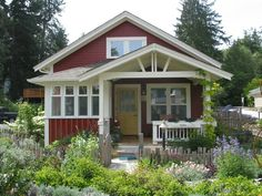 My favorite: Exterior of Coho Cottage by Ross Chapin Architects -- I really like the chunky white trim and wood working.  And I'm completely in love with the wildflower garden front yard.  This little cottage looks so idyllic.