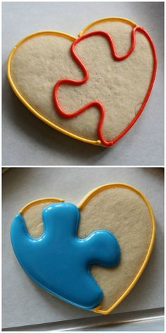 The Cookie Puzzle: Puzzle Hearts - Guest Post by The Sweet Adventures of Sugarbelle Rose Cookies, Crazy Cookies, Heart Cookies, Cut Out Cookies, Christmas Sugar Cookies, Valentine Cookies, Dacquoise, Iced Biscuits, Vanilla Recipes
