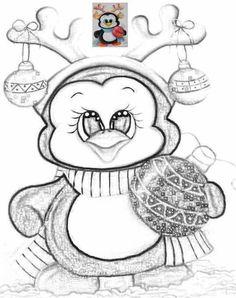 Face Christmas Stencils, Christmas Templates, Christmas Wood, Christmas Colors, Christmas Crafts, Penguin Coloring Pages, Doodle Coloring, Christmas Coloring Pages, Christmas Drawing