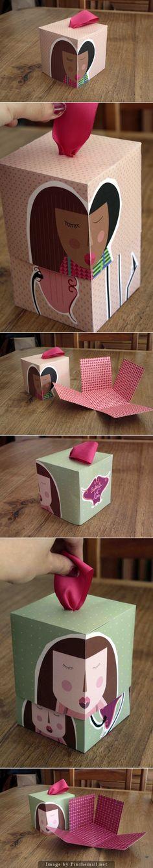 Cute cupcake packaging PD