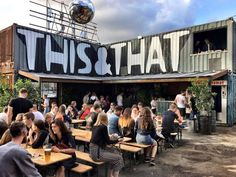 Cafe Shop Design, Pub Design, Store Design, Shipping Container Restaurant, Shipping Container Homes, Container Bar, Container Conversions, Best Rooftop Bars, Container Architecture