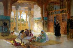 Interior Of An Arab Palace Frederick Arthur Bridgman (1847 – 1928)