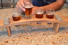 Beer Flight Wine Barrel Taster by WineyGuys on Etsy