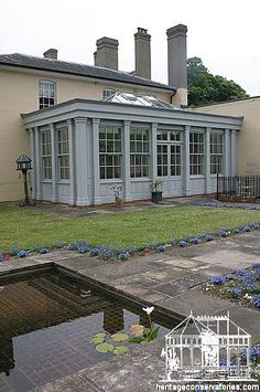 After - a historically looking orangery