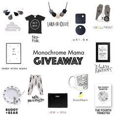 We've teamed up with some amazing mama run brands to bring you this ACE giveaway packed with monochrome goodies for you and your small! ONE WINNER takes all and it couldn't be easier to enter. Our prize is a copy of @fourthtrimag issue 2.  All you have to do is: 1. Like this image (this is how we know you've entered). 2. Make sure you are following us (@fourthtrimag) and all the other brands in the loop.  Too easy right! GOOD LUCK! 3. Now click the image to see where to go next... Once…