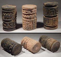 Pre-Columbian Ecuador Jamacoaque Sello Roller Stamp Seals