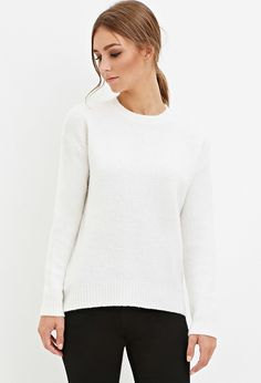 Classic Fuzzy Sweater   Forever 21 - 2000161431