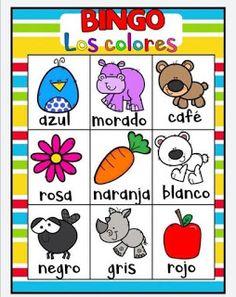 Juego bingo de los colores para aprender los colores Free Preschool, Preschool Worksheets, Color Activities, Toddler Activities, Cardboard Recycling, Bingo Games, Kids Corner, Games For Kids, Kid Games