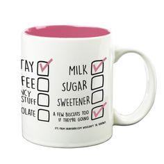 'How I Like Mine' Your Name & Instructions Custom Printed Gift Mug & Box by HairyBaby.com Custom Mugs, Gifts In A Mug, Like Me, Names, Box, Prints, Snare Drum
