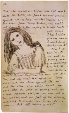 .A page from Lewis Carroll's original manuscript of Alice's Adventures in Wonderland