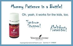 Essential Oils: Vetiver for Temper Tantrum Meltdown Kids Child Children