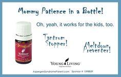 Young Living Essential Oils: Vetiver for Temper Tantrum Meltdown Kids Child Children