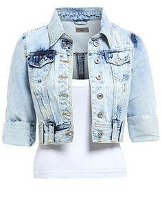 Womens Spring Oversized Jeans Jacket  Ladies Denim Blazer Casual Waistcoat 6-16