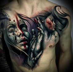 Voodoo Chest Tattoo