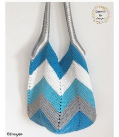 69 Ideas for chevron crochet bag pattern free Crochet Beach Bags, Free Crochet Bag, Crochet Market Bag, Crochet Tote, Crochet Handbags, Crochet Purses, Cotton Crochet, Crochet Yarn, Easy Crochet