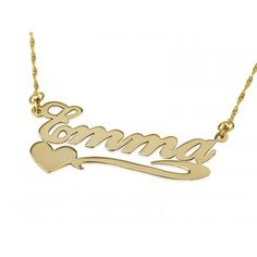 Best presented as gifts on romantic dinners and getaways, this 18k solid gold name necklace will show her what a thoughtful man you are. The best custom jewelry are the ones that carry the name of your loved one and those that are handcrafted. This lovely name necklace is just the best of both worlds.