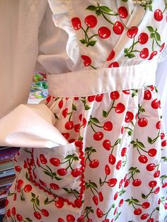 Red cherries apron!