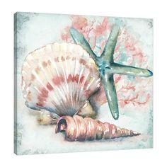 Watercolor Sea, Watercolour Painting, Painting Prints, Seashell Painting, Seashell Art, Sea Life Art, Sea Art, Shell Drawing, Painted Shells