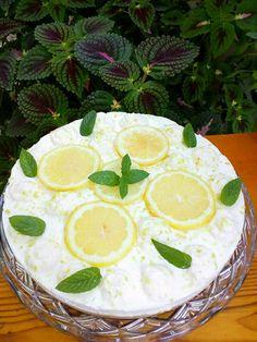 Λεμονογλυκό δροσερό και αρωματικό !!! ~ ΜΑΓΕΙΡΙΚΗ ΚΑΙ ΣΥΝΤΑΓΕΣ 2 Camembert Cheese, Dairy, Pie, Sweets, Desserts, Food, Torte, Tailgate Desserts, Cake