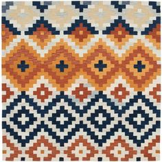 Safavieh Hand-hooked Chelsea Southwest Multicolor Wool Rug (6' Square), Multi, Size 6'