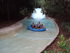 Blizzard Beach, Disney World, Florida - this is one of my favorites! it even has a ski lift to take you to the top - no steps!