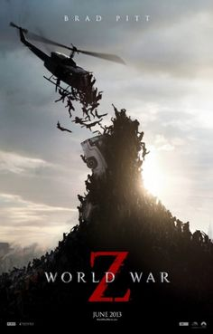 Brad Pitt: 'World War Z' Trailer & Poster!: Photo Check out this newly released poster and trailer from Brad Pitt's upcoming flick World War Z! Here's a synopsis of the film: United Nations employee Gerry Lane… All Movies, Scary Movies, Great Movies, Movies To Watch, Movies Online, Best Zombie Movies, Comedy Movies, Action Movies, Brad Pitt