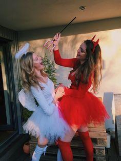 Disfarces Halloween, Halloween Costumes For Teens Girls, Cute Group Halloween Costumes, Best Friend Halloween Costumes, Trendy Halloween, Halloween Makeup, Women Halloween, Halloween Cosplay, Couple Halloween