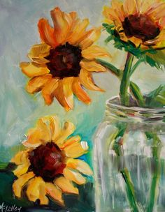 Still Life Painting Flower Floral Painting by MaggiePainting