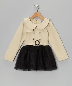 Take a look at this Spoiled Rotten Beige Belted Tulle Dress - Toddler & Girls by Miss Individual: Girls' Apparel on #zulily today!