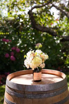 DIY champagne bottle vases, flowers from Fleurs de France, Vine Hill House ©Jessamyn Harris (13)