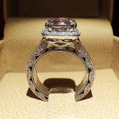 More @diamondboi details...this is what I do. #diamond #diamonds #wedding #weddings #engagement #ring #rings #bride #brides #jewellery #jewelry #vintage #halo #morganite #diamondboi