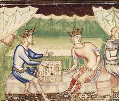 Kings playing a game  Guiron le Courtois Italy, S. (Naples?); Between 1352 and 1362