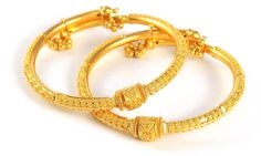 22kt gold bangles for babies -- so cute on their lil chubby hands :-)