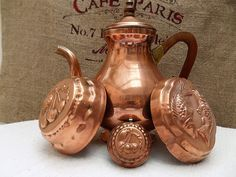 French vintage copper moulds decorative or cooking by FabFrench