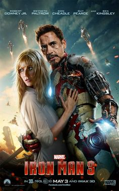 Tony Stark Shields Pepper Potts in Another New Iron Man 3 Poster