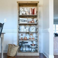 "This ""bookshelf"" is back in my dining room. It's the only thing that fits in this tiny space; the sofa table was just too big. Sharing for #ShowYourShelfieSaturday ; thanks for the tag Erin @cottonstem ."