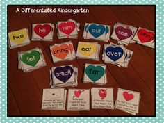 A Differentiated Kindergarten: Heart Attack sight word game- $$ for the kit, but lots of activities