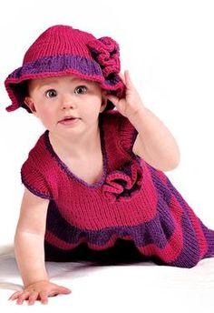 3. Summer Knitting Pattern  Cotton Sundress And Sunhat
