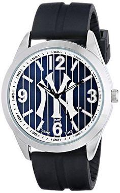 "Game Time Men's MLB-VAR-NY3 ""Varsity"" Watch - New York Yankees - ""Pinstripe Logo"""