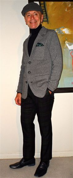 Casual knitted jacket by Porter + Ash, Gap roll-neck sweater, Nocturnal plaid pants, Kenneth Cole loafers…  #menstyle #menswear #menscouture #mensfashion #instafashion #fashion #hautecouture #sartorial #sprezzatura #style #dapper #dapperstyle #pocketsquare
