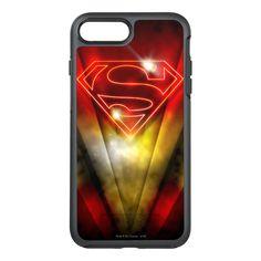 Superman Stylized | Shiny Red Outline Logo OtterBox Symmetry iPhone 7 Plus Case