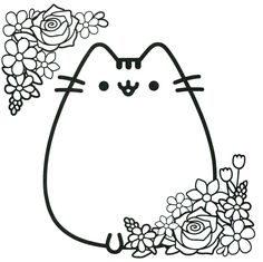 Pusheen Coloring Pages Cartoon Coloring Pages Coloring Pages
