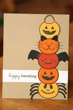 Card by Erin Lincoln  (100311)  [Papertrey Ink  (dies) Bitty Halloween Treats & Sweets  and (stamps)  Halloween Treats & Sweets]