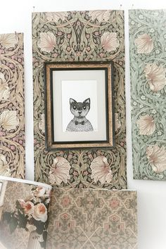 I I think this pin is supposed to be about the wallpaper, but I am loving that critter portrait! Small Apartment Decorating, Jewellery Boxes, William Morris, Textiles, Designer Wallpaper, Pattern Wallpaper, Cute Animals, Art Deco, Interior Design