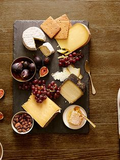 Thanksgiving: the best (and only!) appetizer: a cheese plate.  Great cheese and accompaniments suggestions.
