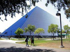 The Walter Pyramid at Cal State Long Beach